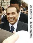 Постер, плакат: President Silvio Berlusconi smiles