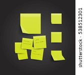yellow sticky note isolated on... | Shutterstock .eps vector #538512301
