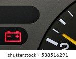 battery warning light in car... | Shutterstock . vector #538516291