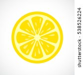lemon slice vector icon... | Shutterstock .eps vector #538526224