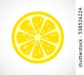 lemon slice vector icon... | Shutterstock .eps vector #538526224