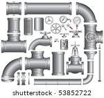 vector collection of detailed... | Shutterstock .eps vector #53852722