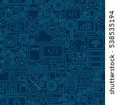 dark programming line seamless... | Shutterstock .eps vector #538535194
