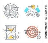 color line  business...   Shutterstock .eps vector #538536541
