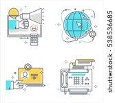 color line  marketing concept... | Shutterstock .eps vector #538536685