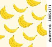 yellow banana background... | Shutterstock .eps vector #538536871