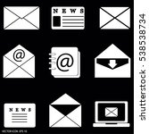 set of email icons   Shutterstock .eps vector #538538734