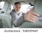 senior drive driving his modern ... | Shutterstock . vector #538539469