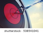hit the bullseye. 3d rendering | Shutterstock . vector #538541041