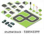 set isometric road and vector...   Shutterstock .eps vector #538543399