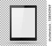 tablet realistic with blank...   Shutterstock .eps vector #538543969
