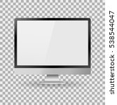 monitor pc realistic with a... | Shutterstock .eps vector #538544047
