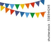 party background with flags... | Shutterstock .eps vector #538544245
