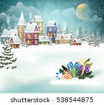 winter holiday christmas... | Shutterstock .eps vector #538544875