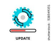 modern flat editable line... | Shutterstock .eps vector #538549351