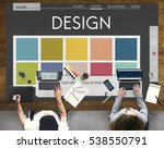 colour shade design colourful... | Shutterstock . vector #538550791