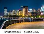 jersey city skyline by night... | Shutterstock . vector #538552237