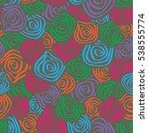 seamless background spiral...   Shutterstock .eps vector #538555774