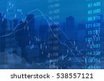 financial graphs analysis | Shutterstock . vector #538557121