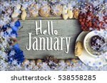 hello january composition of...   Shutterstock . vector #538558285