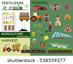 Vector illustrations for agricultural and fertilizer. Infographic - stock vector