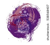 russian swear letter. concept... | Shutterstock . vector #538568407