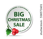 christmas big sale green badge... | Shutterstock .eps vector #538572601