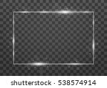 vector shining frame with... | Shutterstock .eps vector #538574914