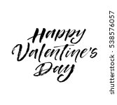 happy valentine's day postcard. ... | Shutterstock .eps vector #538576057
