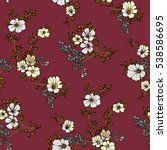 seamless floral pattern in... | Shutterstock .eps vector #538586695