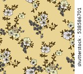 seamless floral pattern in... | Shutterstock .eps vector #538586701