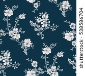 seamless floral pattern in... | Shutterstock .eps vector #538586704