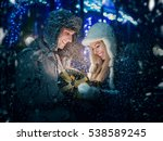 christmas  holidays  young... | Shutterstock . vector #538589245
