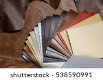 artificial leather samples on a ... | Shutterstock . vector #538590991