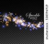 glittering shiny stream of... | Shutterstock .eps vector #538596919