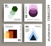 minimalistic abstract posters... | Shutterstock .eps vector #538601299