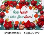 merry christmas and happy new... | Shutterstock . vector #538602499