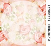 Stock photo summer blossoming roses collage selective focus toned pastel and soft card 538608115