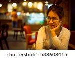 charming beautiful woman in... | Shutterstock . vector #538608415