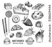 hand drawn vector illustration  ... | Shutterstock .eps vector #538609444