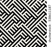 irregular maze line. abstract... | Shutterstock .eps vector #538611187