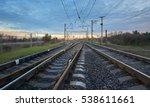 railway station against... | Shutterstock . vector #538611661