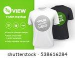 white and black men's t shirt... | Shutterstock .eps vector #538616284