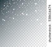 random falling white snowflakes ... | Shutterstock .eps vector #538616674