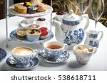afternoon tea sandwich sweet | Shutterstock . vector #538618711