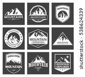 mountain travel  outdoor... | Shutterstock .eps vector #538624339
