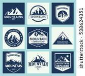 mountain travel  outdoor... | Shutterstock .eps vector #538624351