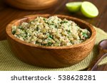 quinoa salad with lentils and... | Shutterstock . vector #538628281