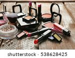 set of decorative cosmetics on... | Shutterstock . vector #538628425