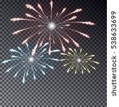 night fireworks sky vector.... | Shutterstock .eps vector #538633699
